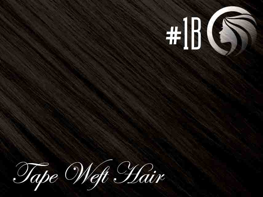 #1B Off Black – 18″ – 60 gram – 24 Pieces – Athena Tape Hair